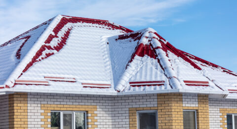 Roof with snow - Roofing services